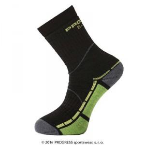 Ponožky Progress Trail Bamboo černá se zelenou