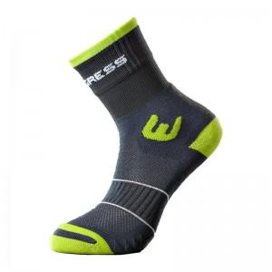 Ponožky Progress Walking šedá se zelenou