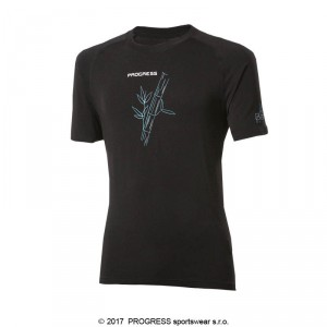 Pánské triko Progress Bamboo kr.rukáv černá