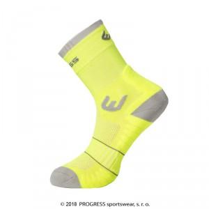 Ponožky Progress Walking žlutá reflexní