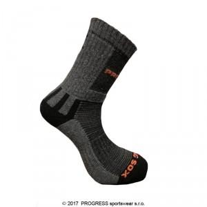 Ponožky Progress Hiking Sox šedá