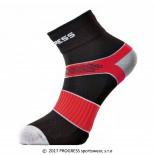 Ponožky Progress Cycling černá s červenou