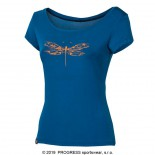 Dámské triko Progress Liberta Vážka modrá