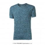 Pánské triko Progress Melis modrá tyrkysový melír