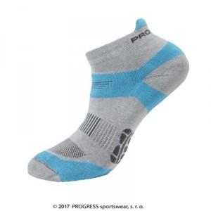 Ponožky Progress Running Sox šedá s modrou