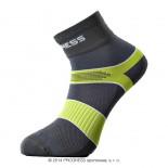 Ponožky Progress Cycling šedá se zelenou