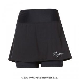 Dámská běžecká sukně Progress Gonna černá