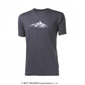 Pánské triko Progress Wabi tmavě šedá