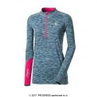 Dámské triko Progress Silvia modrá melír s růžovou