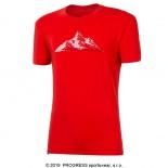 Pánské triko Progress Pioneer Mountain červená