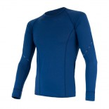 Pánské triko Sensor Merino Air dl.rukáv tmavě modrá