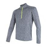 Pánské triko Sensor Motion dl.rukáv zip šedá melír