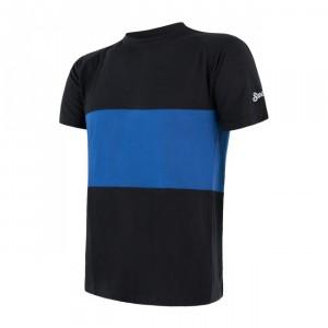Pánské triko Sensor Merino Air PT kr.rukáv černá s modrou