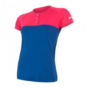 Dámské triko Sensor Merino Air PT kr.rukáv modrá s růžovou