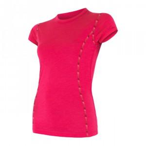 Dámské triko Sensor Merino Air kr.rukáv růžová