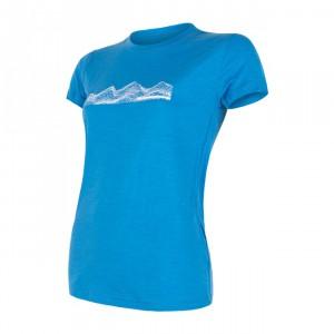 Dámské triko Sensor Merino Active PT Mountains kr.rukáv modrá