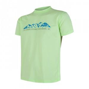 Pánské triko Sensor Coolmax Fresh PT Mountains světle zelená