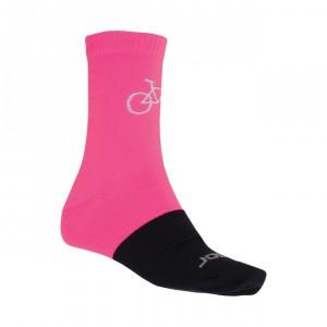 Ponožky Sensor Tour Merino Wool černá s růžovou