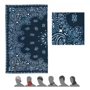Multifunkční šátek Sensor Tube Ornament modrá s bílou