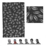 Multifunkční šátek Sensor Tube Pattern Leaves černá s bílou