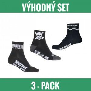 Sensor ponožky Race 3-pack černá