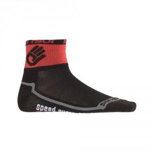 Ponožky Sensor Race Lite Ruka černá s červenou