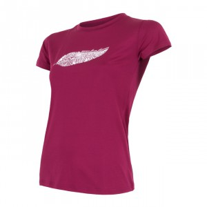 Dámské triko Sensor Coolmax Fresh Feather fialová  lilla