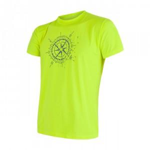 Pánské triko Sensor Coolmax Fresh PT Kompas žlutá reflexní