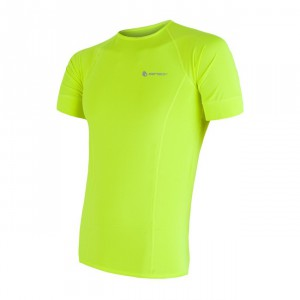Pánské triko Sensor Coolmax Fresh kr.rukáv žlutá reflexní