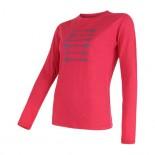 Dámské triko Sensor Merino Wool Active růžová šípy