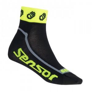 Ponožky Sensor Ručičky černá se žlutou reflexní