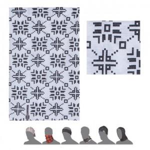 Multifunkční šátek Sensor Tube Pattern Flakes bílá