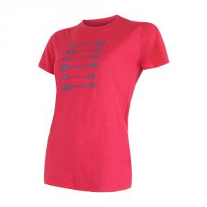 Dámské triko Sensor Merino Active PT Arrows růžová