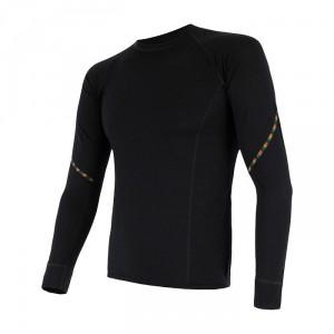Pánské triko Sensor Merino Air dl.rukáv černá