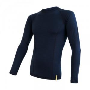Pánské triko Sensor Merino DF Deep blue dl.rukáv tmavě modrá