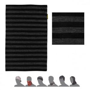Multifunkční šátek Sensor Tube Merino Wool černá se šedou