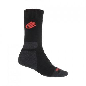 Ponožky Sensor Expedition Merino černá s červenou