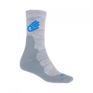 Ponožky Sensor Expedition Merino šedá s modrou