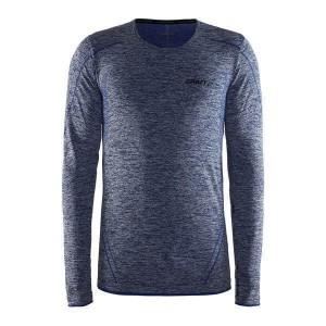 Pánské triko Craft Active Comfort dl.rukáv černá melír